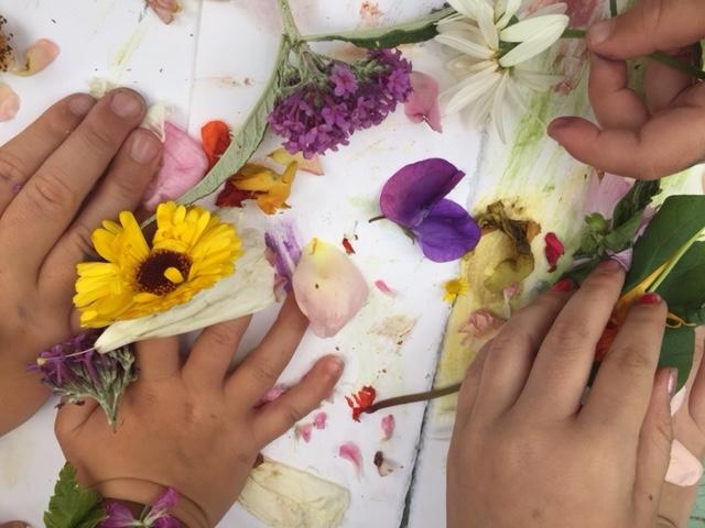 handling flowers